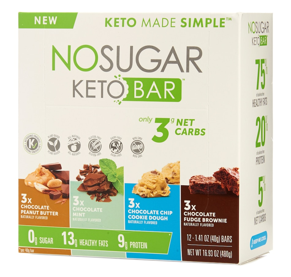 Image 631970.jpg , Product 631-970 / Price $36.00 , Keto Made Simple No Sugar Keto Bar Variety Pack from Keto Made Convenient on TSC.ca's Health & Fitness department
