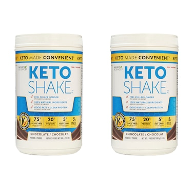 Keto Made Convenient Nature's Science Keto Snack Shake Duo