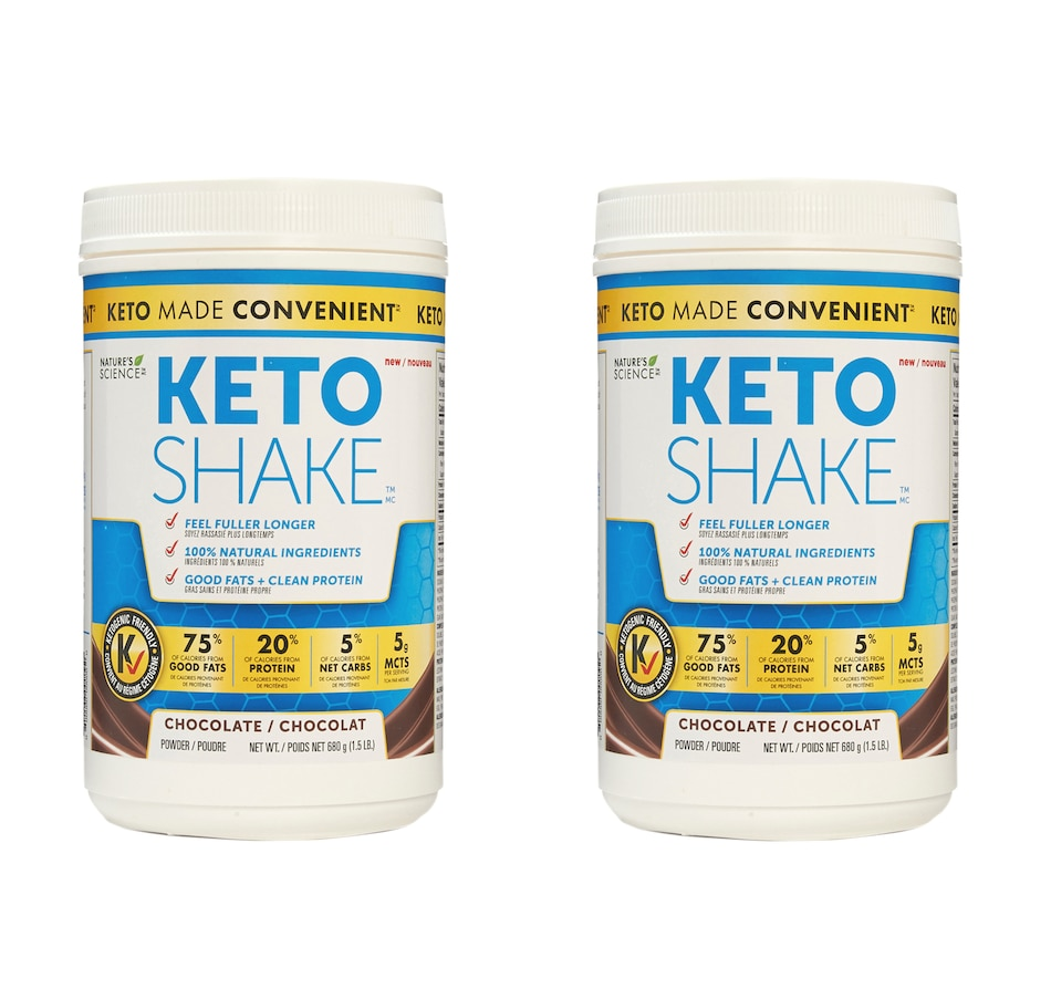 Image 631995_CHO.jpg , Product 631-995 / Price $110.00 , Keto Made Convenient Nature's Science Keto Snack Shake Duo from Keto Made Convenient on TSC.ca's Health & Fitness department