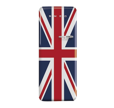 """SMEG 24"""" 50's Style Refrigerator -  Union Jack (Right Hand Hinge)"""