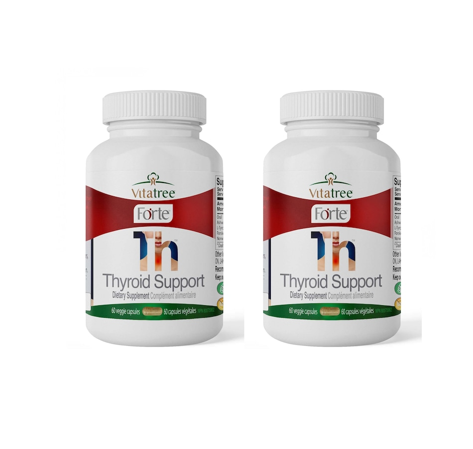 Image 632136.jpg , Product 632-136 / Price $53.99 - $149.49 , VitaTree Forte Thyroid Support 60-Days from VitaTree Nutritionals on TSC.ca's Health & Fitness department