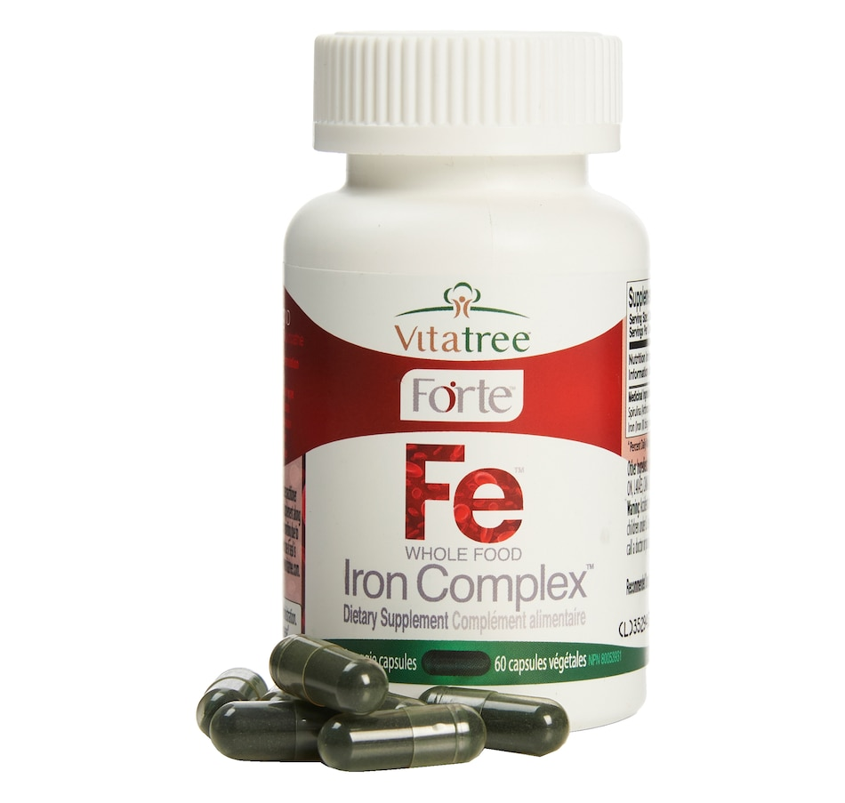 Image 632220.jpg , Product 632-220 / Price $42.99 , VitaTree Forte Whole Food Iron Complex 30-Day from VitaTree Nutritionals on TSC.ca's Health & Fitness department