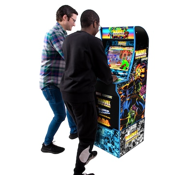 Arcade1Up Marvel Super Heroes with Riser and Light-Up Marquee