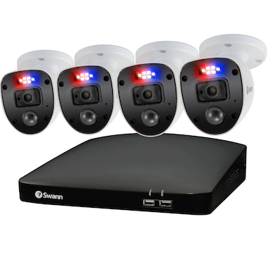 Swann 1080p HD 8-Channel 1TB Hard Drive DVR Security System with Four 1080p Cameras