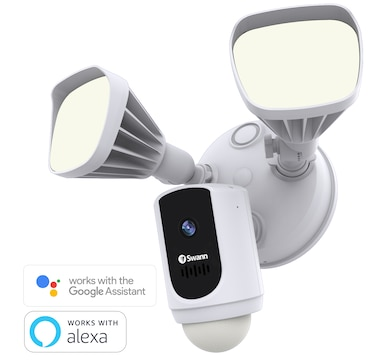Swann 1080p Smart Wi-Fi Floodlight Security Camera with Amazon Alexa and Google Assistant