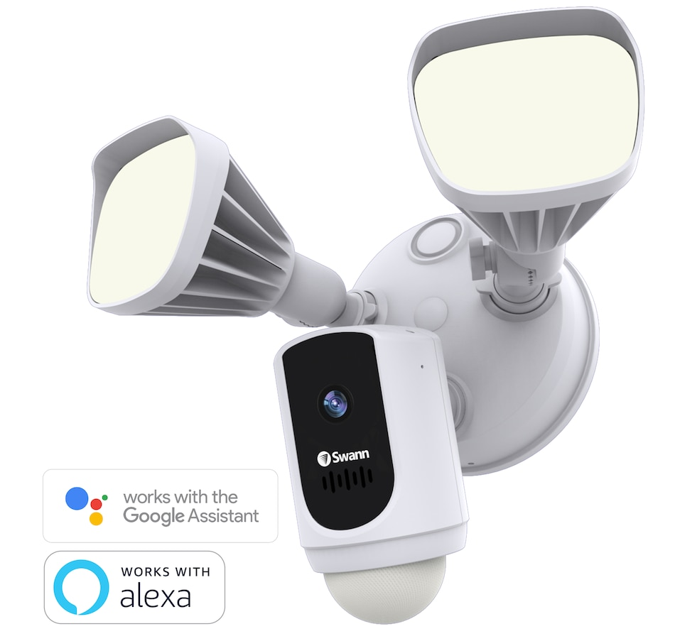 Image 632400.jpg , Product 632-400 / Price $164.99 , Swann 1080p Smart Wi-Fi Floodlight Security Camera with Amazon Alexa and Google Assistant from Swann on TSC.ca's Electronics department