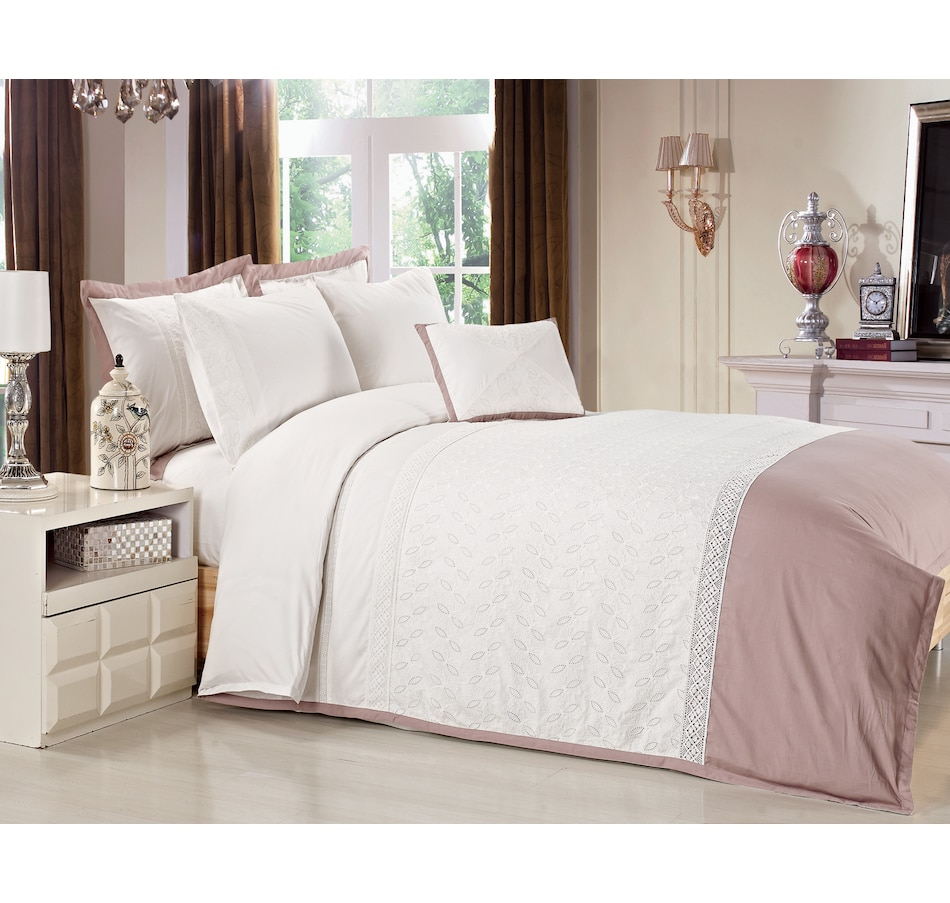 Image 633093.jpg , Product 633-093 / Price $184.95 - $204.95 , New Season Home Lace Aztec 7-Piece Duvet Cover Set from New Season on TSC.ca's Home & Garden department