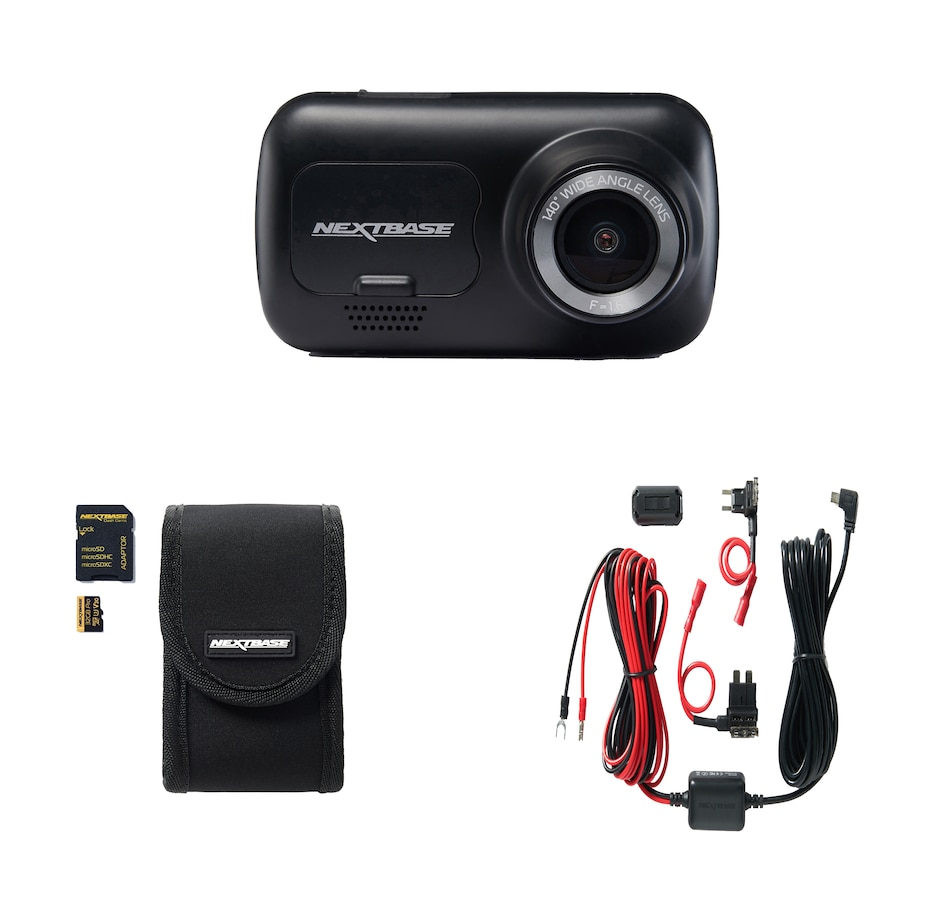"Image 633276.jpg , Product 633-276 / Price $129.99 , Nextbase 222 Full HD 1080p Dash Cam with 2.5"" LED HD IPS Screen with Case, 32GB MicroSD Card and Hardwire Kit  on TSC.ca's Electronics department"
