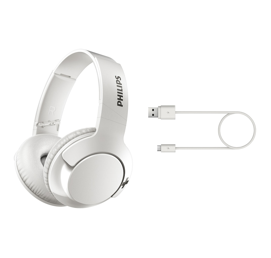 Image 633302_WHT.jpg , Product 633-302 / Price $89.99 , Philips Bass On-Ear Wireless Bluetooth Headphones from Philips on TSC.ca's Electronics department