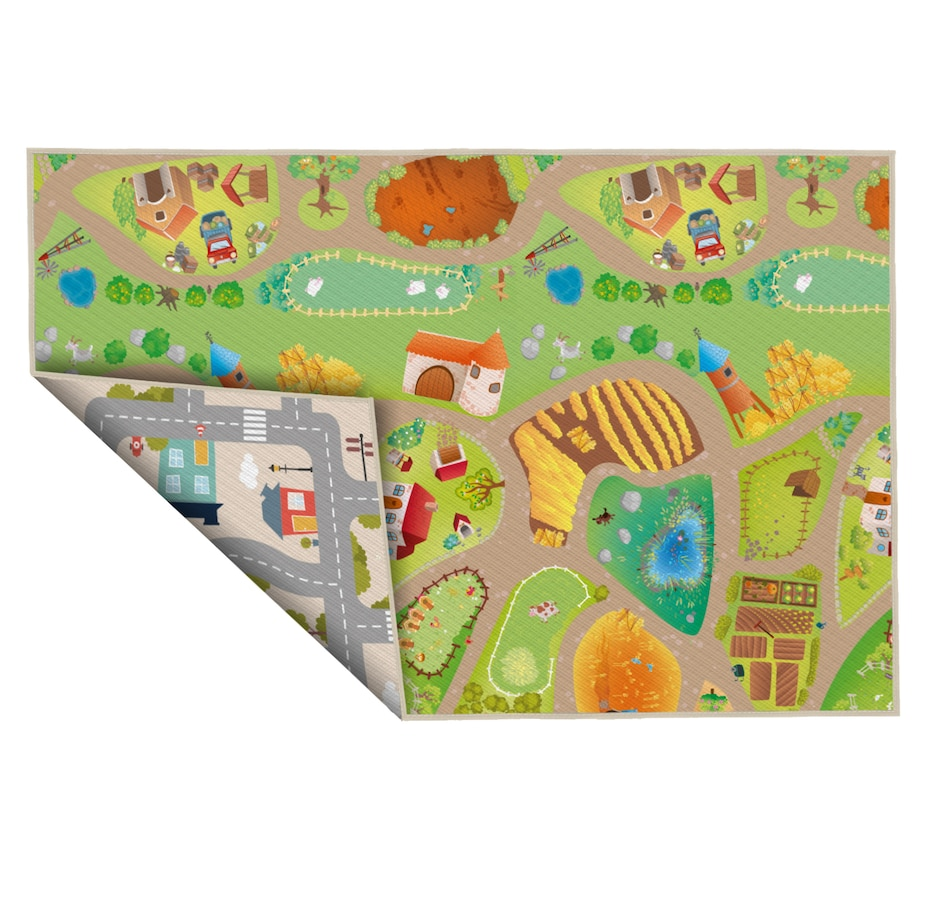"""Image 634012.jpg , Product 634-012 / Price $82.99 , Viana 60"""" x 77"""" Farm City Reversible Waterproof Baby Playmat from Viana Inc on TSC.ca's Home & Garden department"""