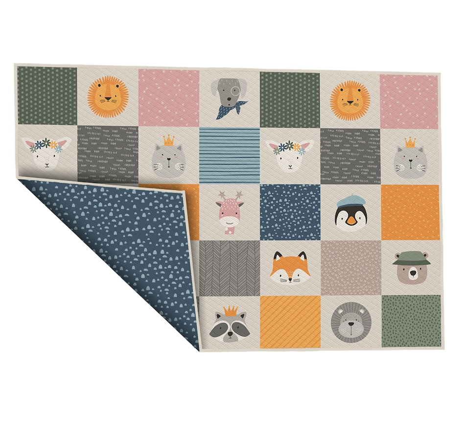 """Image 634014.jpg , Product 634-014 / Price $82.99 , Viana 60"""" x 77"""" Critters Reversible Waterproof Baby Play Mat from Viana Inc on TSC.ca's Home & Garden department"""