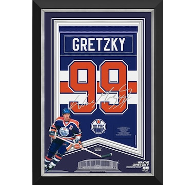 Wayne Gretzky Edmonton Oilers Arena Banner with Facsimile Signature (Limited to 199)