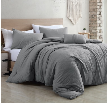 Casa Platino Garment Washed Brushed Microfibre 4-Piece All-Season Comforter Set