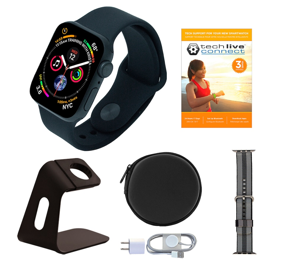 Image 638415_GBL44.jpg , Product 638-415 / Price $839.97 - $879.96 , Apple Watch Series 5 GPS Sport Band Tech Bundle with 3-Year Tech Support from Apple on TSC.ca's Electronics department