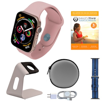 Apple Watch Series 5 GPS Sport Band Tech Bundle with 3-Year Tech Support