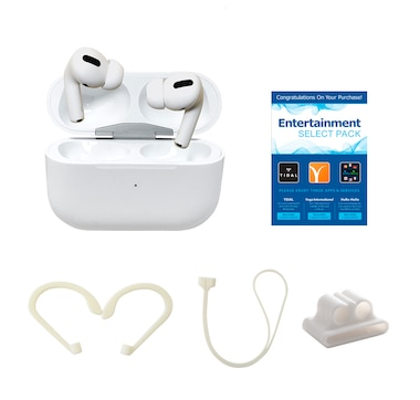 Apple AirPods Pro Bundle with Airhooks, Neck Strap, Case and Fun Pack