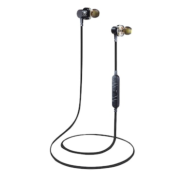 Volkano Resonance Series Bluetooth Dual Driver Magnetized Earphones with Hard Carry Case and Built-In EQ Modes