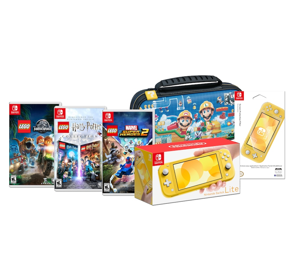 Image 641412.jpg , Product 641-412 / Price $439.99 , Nintendo Switch Lite Yellow Logo Bundle with Case and Screen Protective Filter from Nintendo on TSC.ca's Coins & Hobbies department