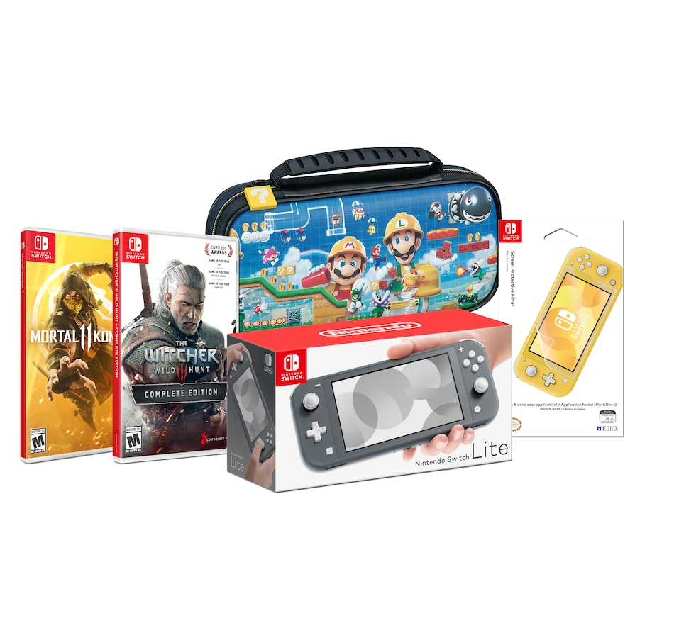 Image 641415.jpg , Product 641-415 / Price $459.99 , Nintendo Switch Lite Bundle with Mortal Kombat 11, The Witcher 3 plus Case and Screen Protective Filter from Nintendo on TSC.ca's Coins & Hobbies department