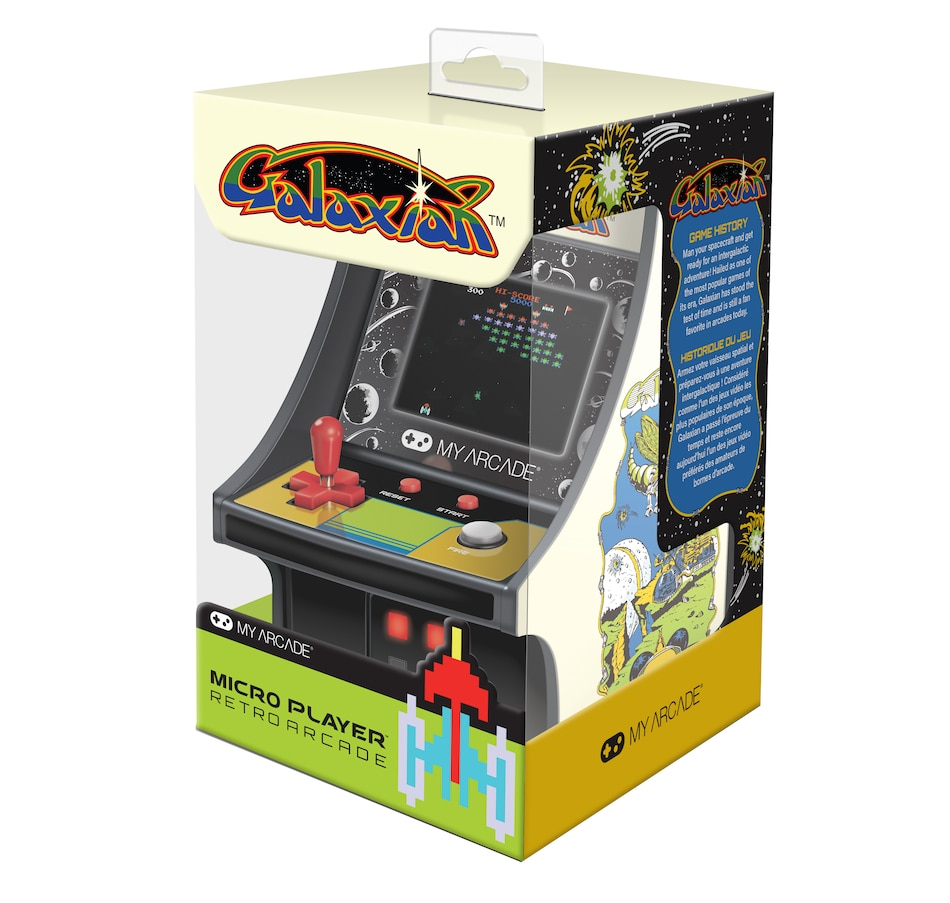 "Image 641469.jpg , Product 641-469 / Price $44.99 , Dreamgear Galaxian 6"" Mini Micro Player  on TSC.ca's Coins & Hobbies department"