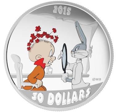 "2015 $30 Fine Silver Coin, Looney TunesTM Classic Scenes, ""The Rabbit of Seville"""