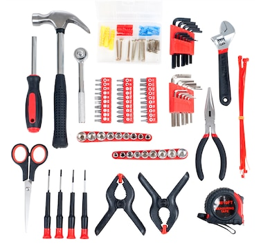 Stalwart 86 Piece Tool Kit - Household Car & Office in Roll Up Bag