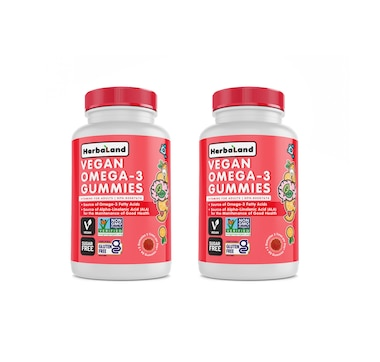 Herbaland Plant-Based Omega 3 Gummies - 30-Day Supply