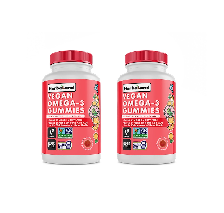 Image 644131.jpg , Product 644-131 / Price $36.00 , Herbaland Plant-Based Omega 3 Gummies - 30-Day Supply from Herbaland Naturals on TSC.ca's Health & Fitness department