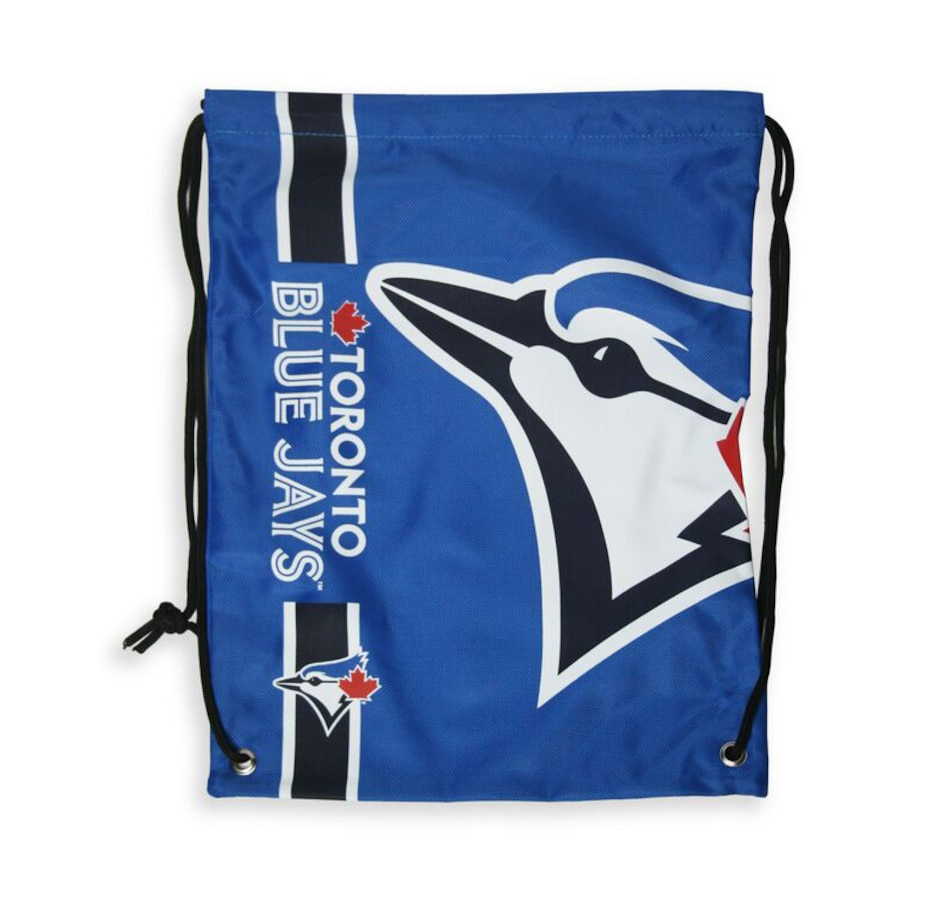 Image 644187.jpg , Product 644-187 / Price $17.99 , Toronto Blue Jays Big Logo Drawstring Backpack  on TSC.ca's Health & Fitness department