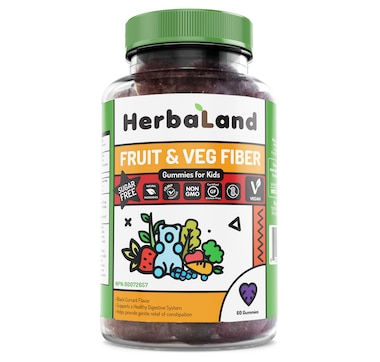 Herbaland Kids Fruit& Veg Fiber Gummies - 20-Day Supply