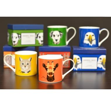 Set of 4 Animal Mugs with Gift Box