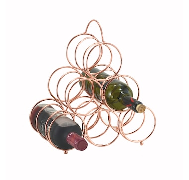 Fable - Pyramid Wine Rack, Rose Gold