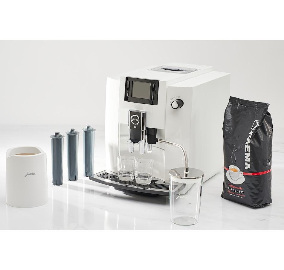 Image 646039.jpg , Product 646-039 / Price $1,949.00 , Jura E6 Piano White Espresso Machine Bundle from Jura on TSC.ca's Kitchen department