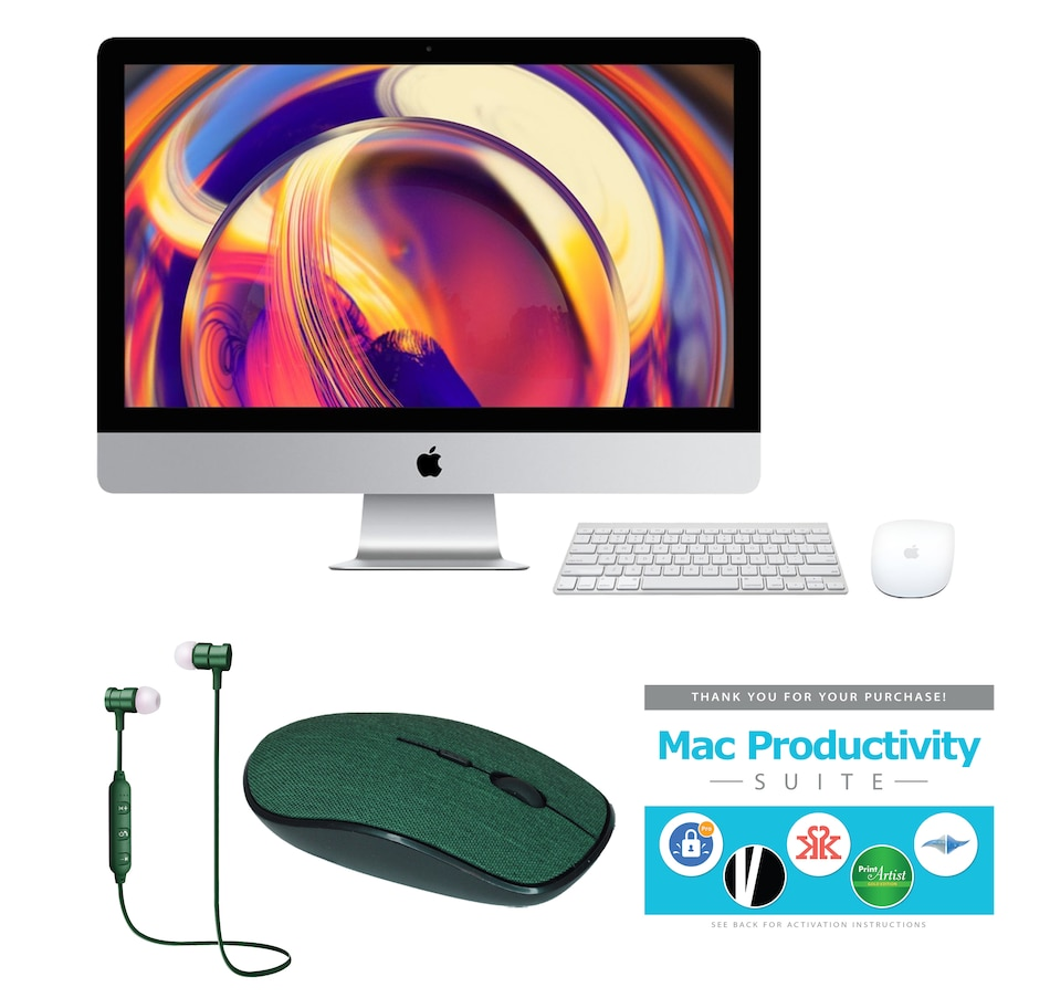 """Image 646165_GRN.jpg , Product 646-165 / Price $1,999.99 , Apple iMac 21.5"""" 2.3GHz 7th Gen 256GB Bundle from Apple on TSC.ca's Electronics department"""