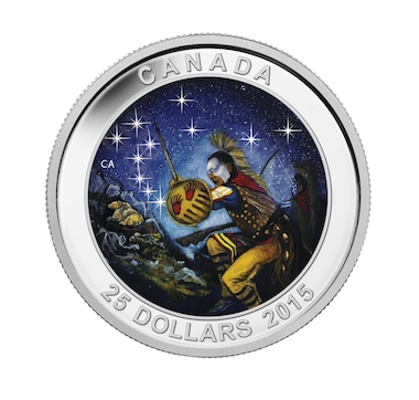 $25 Fine Silver Coin Glow-in-the-Dark 2015 Star Charts Series - The Bear