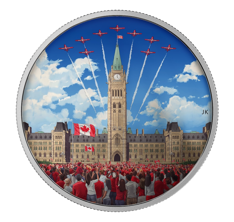Image 646211.jpg , Product 646-211 / Price $189.95 , $30 Fine Silver Proof Coin Celebrating Canada with Transforming Day and Night Images from Royal Canadian Mint on TSC.ca's Coins department