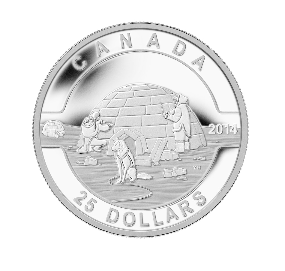Image 646216.jpg , Product 646-216 / Price $89.95 , $25 Fine Silver Coin Iconic Igloo from Royal Canadian Mint on TSC.ca's Coins department