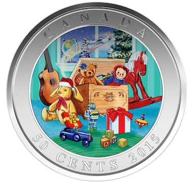 Lenticular 50-Cent Coin Holiday Toy Box