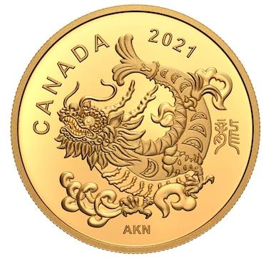 2021 $8 Pure Gold Coin Triumphant Dragon