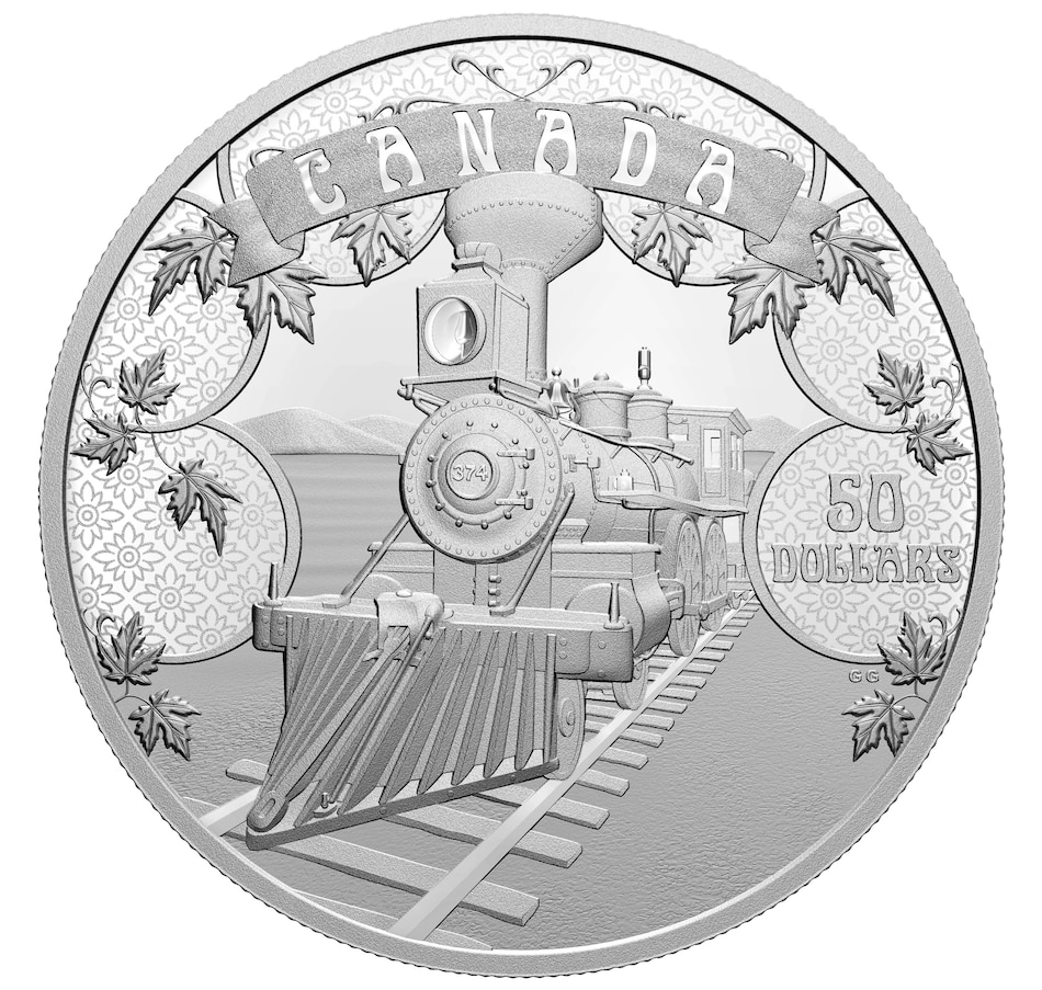 Image 646351.jpg , Product 646-351 / Price $599.95 , 2021 $50 Fine Silver Proof Coin - The First 100 Years of Confederation: An Emerging Country from Royal Canadian Mint on TSC.ca's Coins department