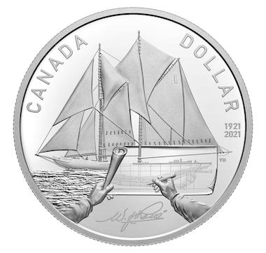 2021 Proof Fine Silver Dollar - 100th Anniversary of Bluenose