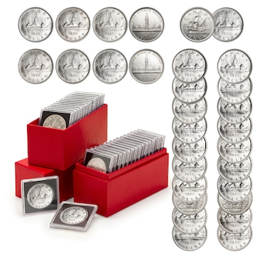 Hoard of 30 Silver Dollars 1935–1960 - Includes all but Five Dates of Issue