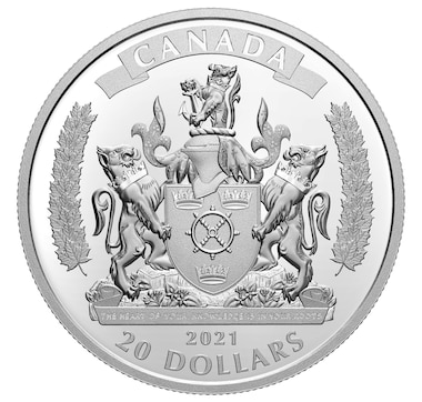 2021 $20 Fine Silver Coin Commemorating Black History: The Black Loyalists