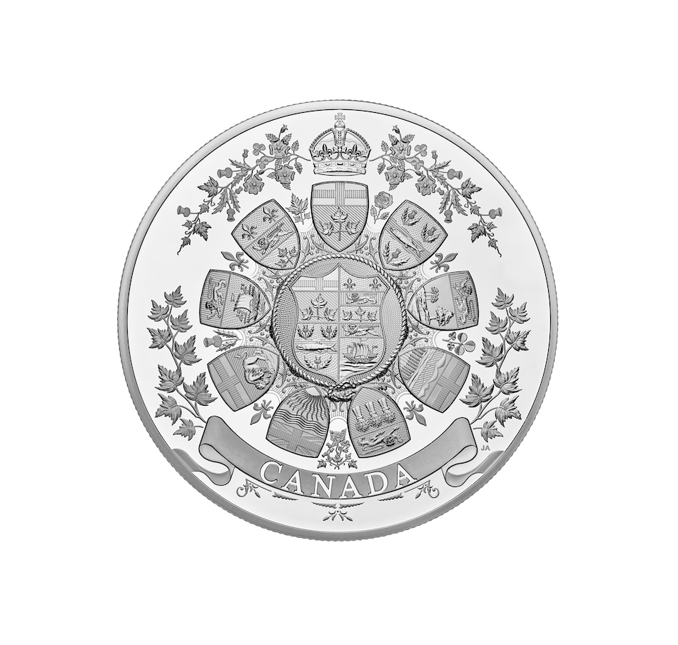 Image 646558.jpg , Product 646-558 / Price $2,699.95 , 2021 One Kilo $250 Fine Silver Coin Archival Treasures: 1912 Heraldic Design from Royal Canadian Mint on TSC.ca's Coins department