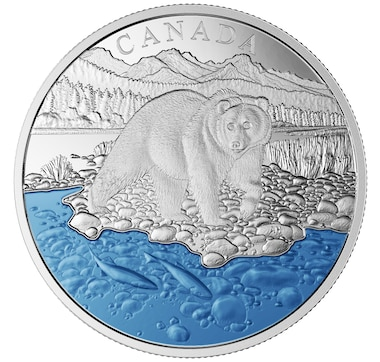 2017 $20 Grizzly Bear Fine Silver Coin