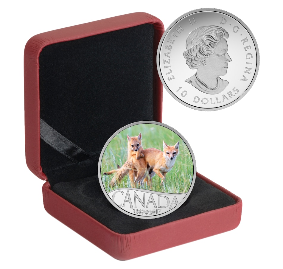 Image 646565_FOX.jpg , Product 646-565 / Price $42.88 , Choice of Two O Canada Fine Silver Coins: Fox or Heron from Royal Canadian Mint on TSC.ca's Coins department