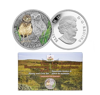 $20 Owl Fine Silver Coin and Stamp Set