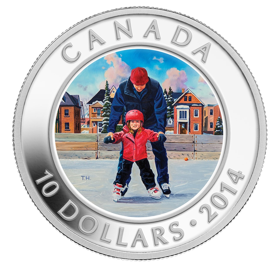 Image 647025.jpg , Product 647-025 / Price $48.88 , $10 Fine Silver Coin Skating in Canada from Royal Canadian Mint on TSC.ca's Coins department