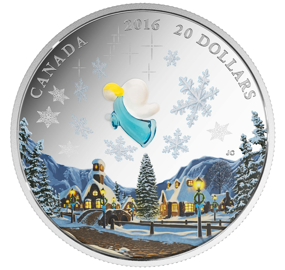 Image 647029.jpg , Product 647-029 / Price $149.95 , $20 Murano Glass My Angel Fine Silver Coin from Royal Canadian Mint on TSC.ca's Coins department