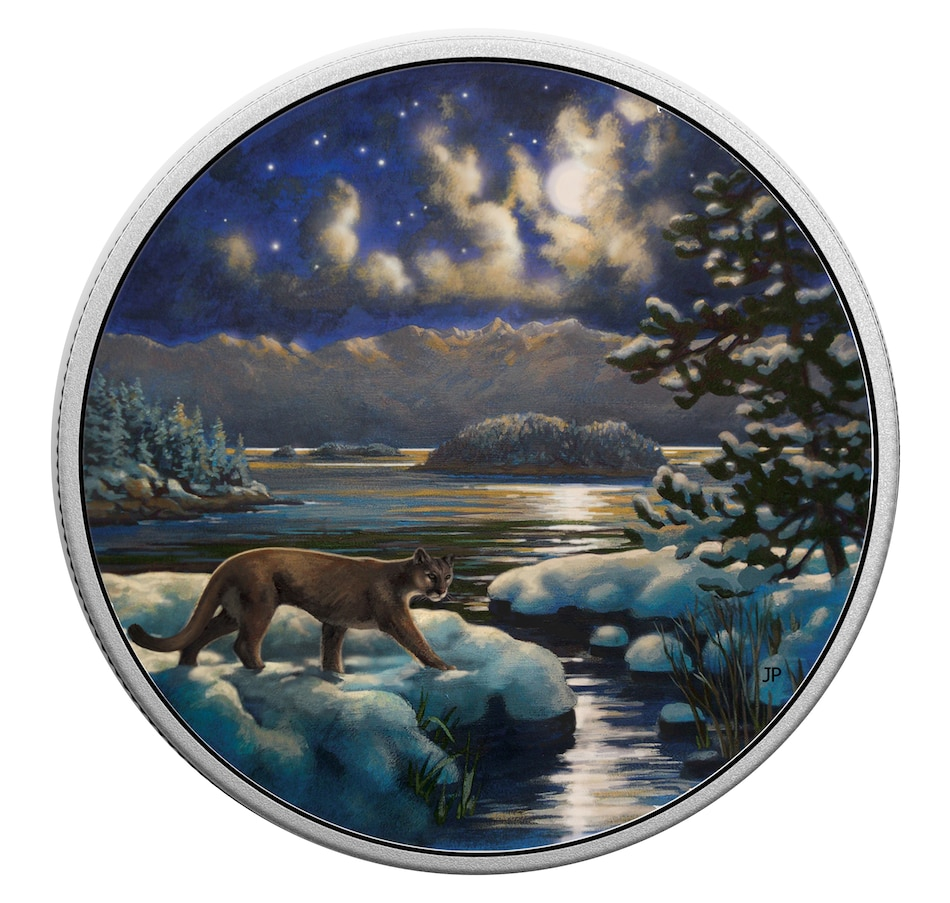 Image 647036_30MLC.jpg , Product 647-036 / Price $168.88 , Choice of Three Coin Set Animals in the Moonlight $30 Fine Silver Coins from Royal Canadian Mint on TSC.ca's Coins department